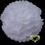 "8"" Tissue Paper Pom Poms Ball - White(4 pieces)"