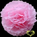 "8"" Tissue Paper Pom Poms Ball - Pink(4 pieces)"