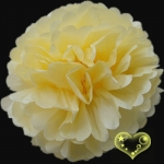 "12"" Tissue Paper Pom Poms Ball - Light Yellow(4 pieces)"