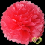 "12"" Tissue Paper Pom Poms Ball - Coral(4 pieces)"