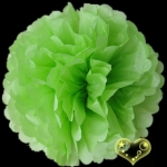 "16"" Tissue Paper Pom Poms Ball - Light Lime(4 pieces)"