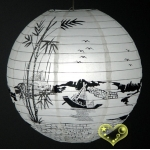 "16"" Fishing village Paper Lantern"