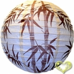 "16"" Brown Bamboo Paper Lantern wholesale(150 of case)"