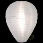 "14"" Egg Nylon Lanterns-White"