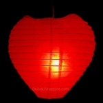 Heart Paper Lantern-Red