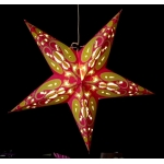 "24""Hot Pink with Yellow Star Lantern"