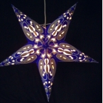 "24""Blue with Chartreuse Star Lantern"