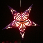 "24""Purple Sunshine Window Star Lantern"