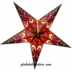 "24""Red Paisley Star Lantern"