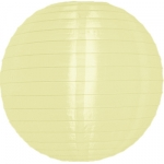 "16"" Even Ribbing Light Yellow Nylon Lantern(12 pieces)"