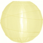 "12"" Uneven Ribbing Light Yellow Nylon Lantern(12 pieces)"