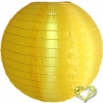 "16"" Even Ribbing Gold Yellow Nylon Lantern(12 pieces)"