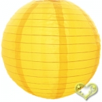 "24"" Even Ribbing Yellow Nylon Lantern(12 pieces)"