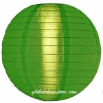 "16"" Even Ribbing Grass Green Nylon Lantern(12 pieces)"