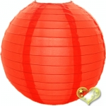 "14"" Even Ribbing Mango Nylon Lantern(12 pieces)"