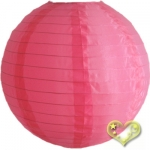 "14"" Even Ribbing Coral Nylon Lantern(12 pieces)"