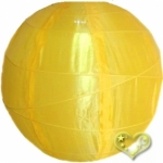 "14"" Uneven Ribbing Gold Yellow Nylon Lantern(12 pieces)"