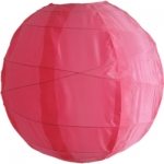 "16"" Uneven Ribbing Coral Nylon Lantern(12 pieces)"