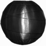 "16"" Uneven Ribbing Black Nylon Lantern(12 pieces)"