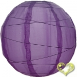 "14"" Uneven Ribbing Light Purple Nylon Lantern(12 pieces)"