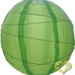 "20"" Uneven Ribbing Apple Nylon Lantern(12 pieces)"