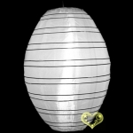 "10"" Kawaii Nylon Lanterns-White"