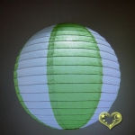 "12"" Two Tone Paper lanterns-White Light lime"