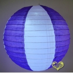 "12"" Two Tone Paper lanterns-White Purple"