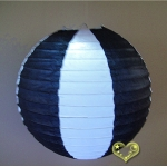 "12"" Two Tone Paper lanterns-White Black"
