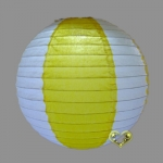 "12"" Two Tone Paper lanterns-White Yellow"