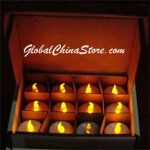 Yellow Led Battery Candle(12pc)