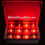 Red Led battery Candle(12pc)