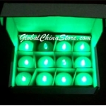 Green Led battery Candle(12pc)