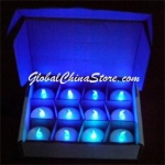 Blue Led battery Candle(12pc)