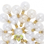 Clear Candelabra C7 Base G40 Bulbs(25 Pieces)
