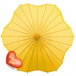 Six Scalloped Parasols-Yellow