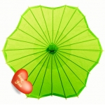 Six Scalloped Parasols-Chartreuse
