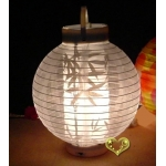 Led battery bamboo Fabric lantern(50 of case)