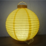"10"" Yellow 12LED Round Paper Battery Lantern"