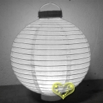 "12"" White 12 LED Round Paper Battery Lantern"