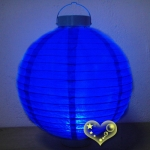 "16"" Dark Blue 12 LED Round Paper Battery Lantern"