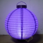 "8"" Purple 3LED Round Paper Battery Lantern"