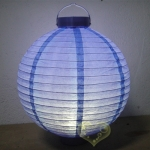 "20"" Bueberry 12 LED Round Paper Battery Lantern"