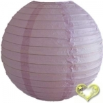 14 Inch Even Ribbing Lilac Paper Lanterns
