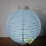 "10""Ice Blue 12LED Round Paper Battery Lantern"