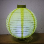 "16"" Chartreuse 12 LED Round Paper Battery Lantern"