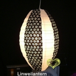 Large Black and White Eyelet Kawaii Paper Lantern