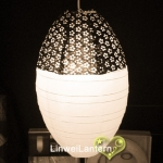 New Black and White Eyelet Kawaii Paper Lantern