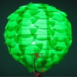 "10""Grass Green Pine Cone Paper Flower lanterns"