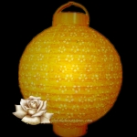 "10"" Yellow Eyelet 12LED Battery Double Paper Lantern"